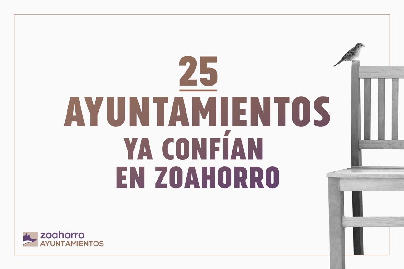 25 Ayuntamientos con Zoahorro