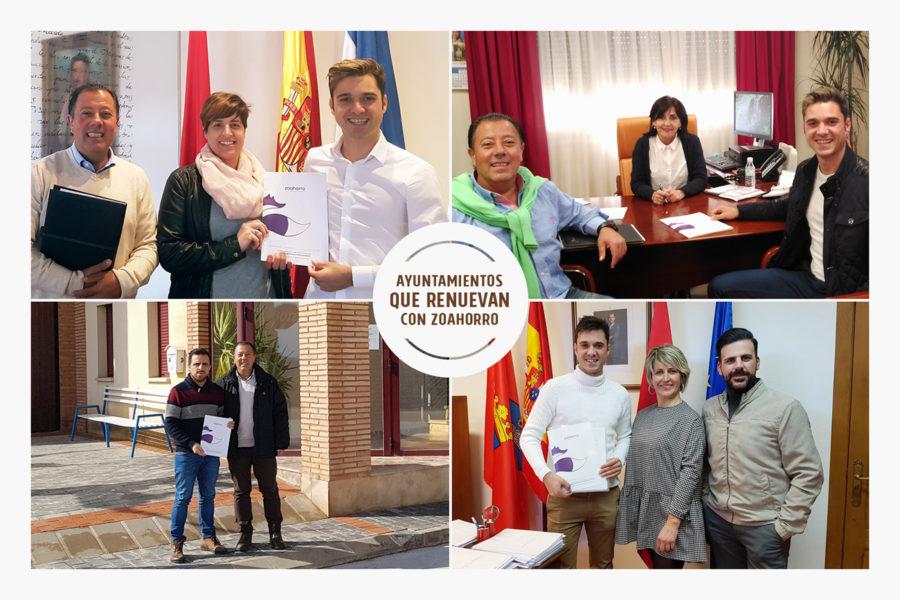 Cuatro ayuntamientos renuevan con Zoahorro
